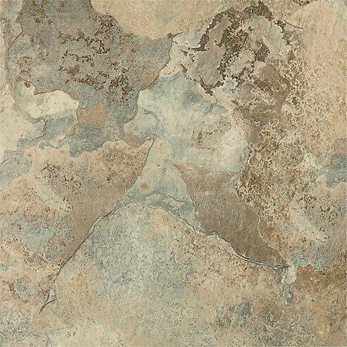 12-inch x 12-inch Beige Stone Peel and Stick Vinyl Tile Flooring (30 sq.ft. / case)