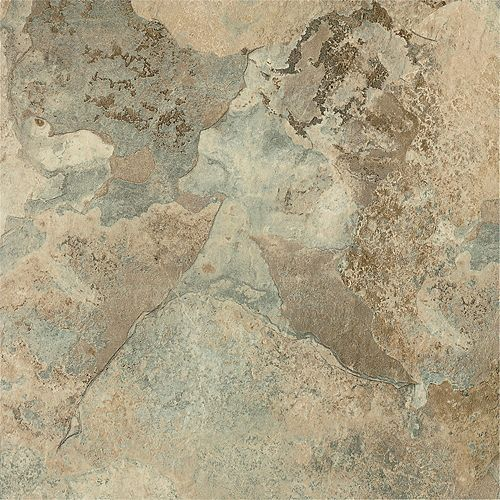 12-inch x 12-inch Beige Stone Peel and Stick Vinyl Tile Flooring (30 sq.ft. / case)