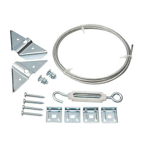 Kit de porte anti-affaissement Everbilt, galvanisé, 8pc