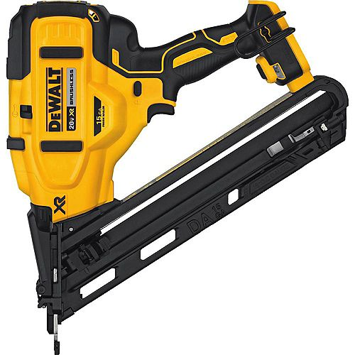 20V MAX XR Lithium-Ion Cordless 15-Gauge Angled Finish Nailer (Tool-Only)