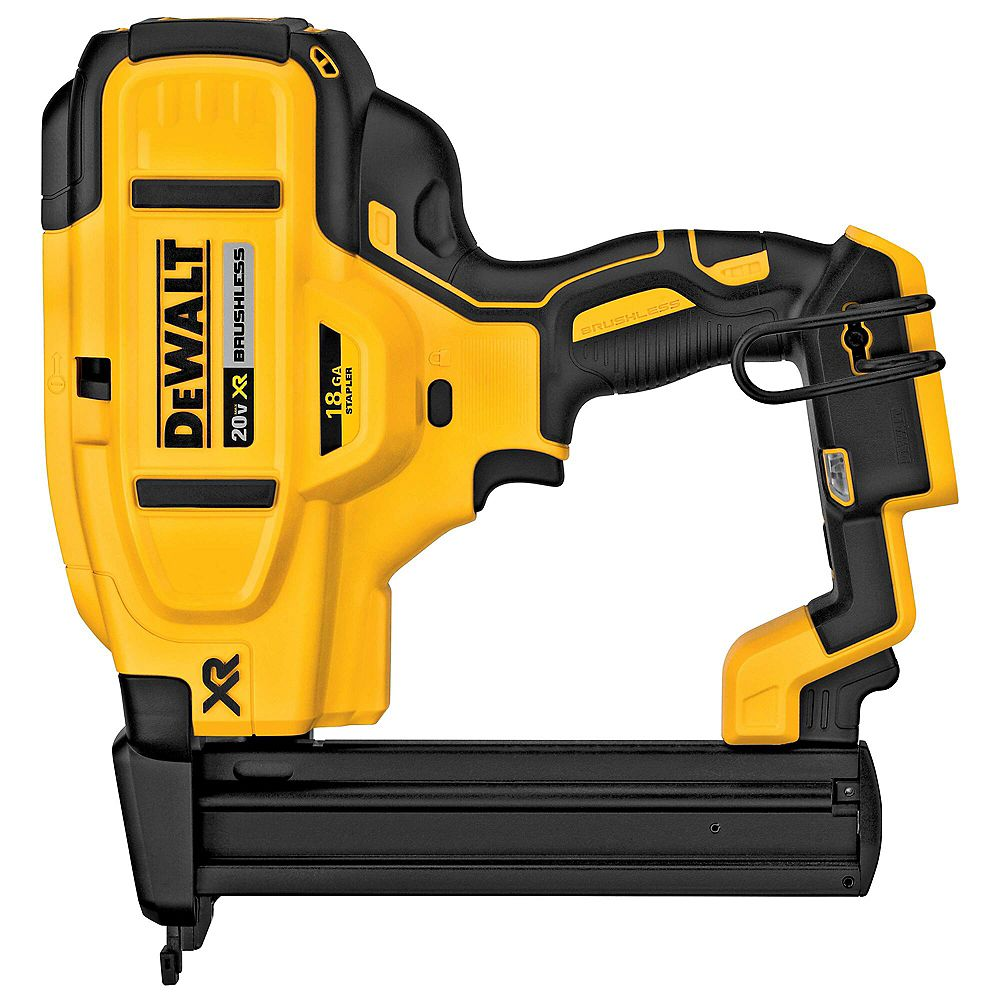 DEWALT 20V MAX XR Lithium-Ion Cordless 18-Gauge Narrow Crown Stapler (Tool-Only)
