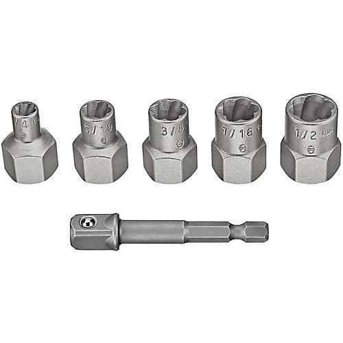 MAX Impact Steel Bolt Extractor Set (5 Piece)