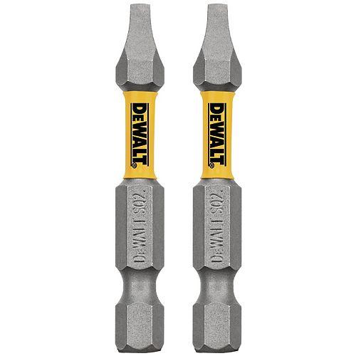 MAXFIT 2 x 2 po à embout de vissage carré en acier (2PK)