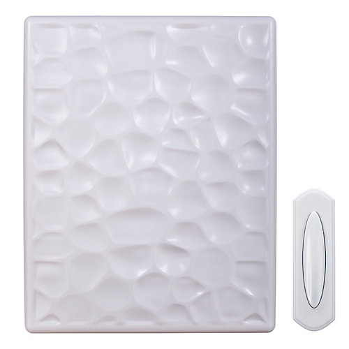 Wireless or Wired Door Bell Hammered White