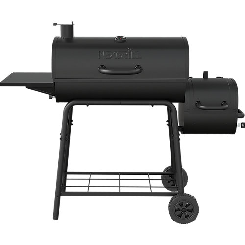 29-inch Barrel Charcoal Smoker & BBQ in Black