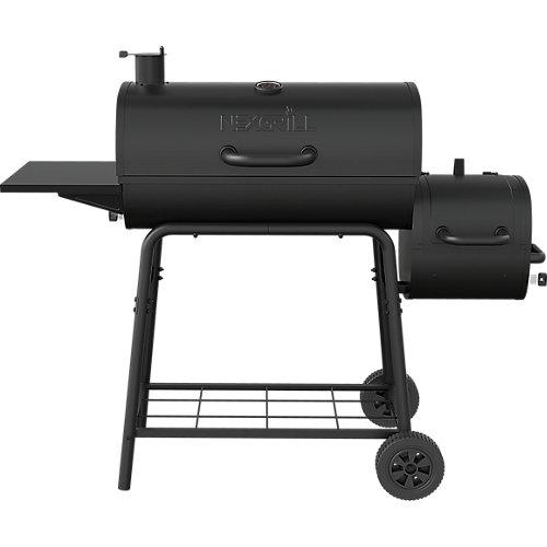 Fumoir à charbon de baril de 29 pouces et barbecue en noir