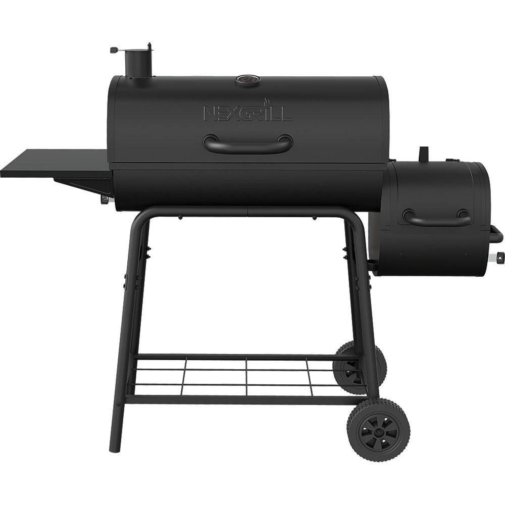 NexGrill 29-inch Barrel Charcoal Smoker & BBQ in Black