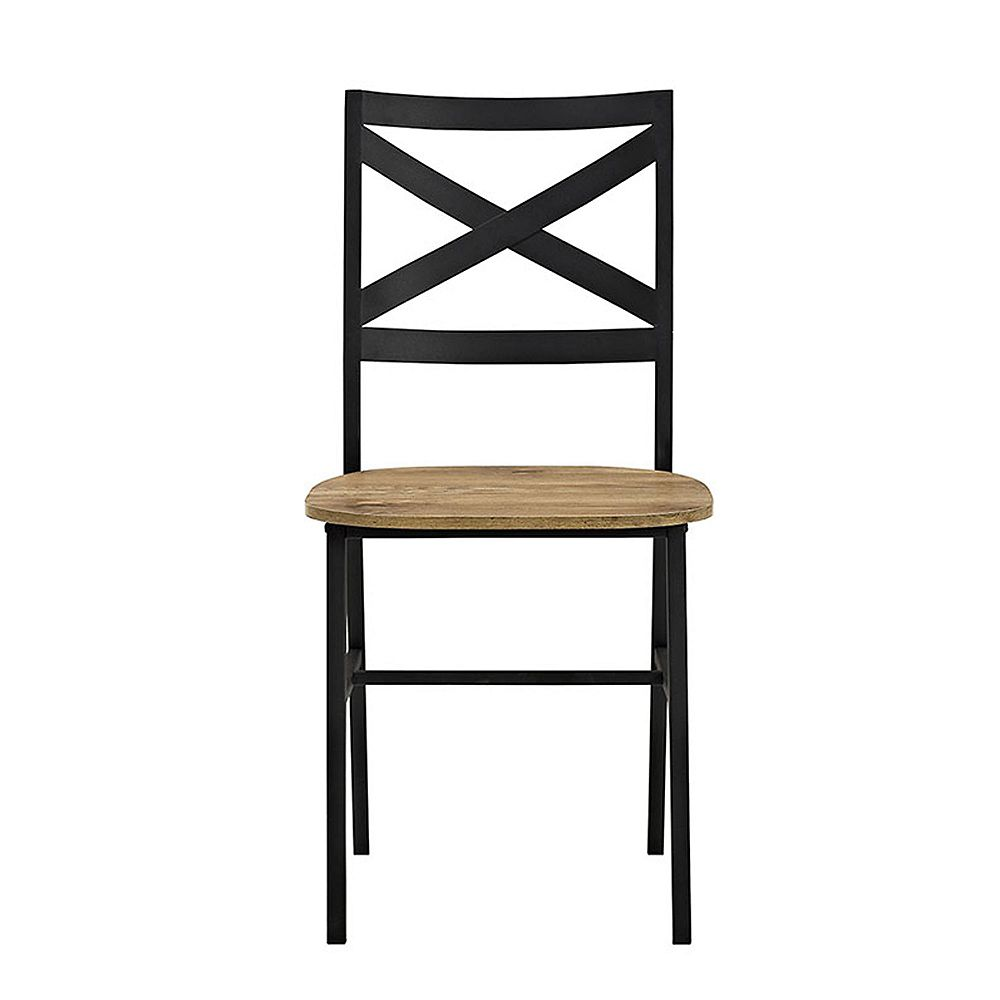 Modern Industrial Farmhouse Dining Chairs, Set of 10 - Barnwood