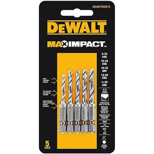 MAX Impact SAE Drill Tap Set (5 Piece)