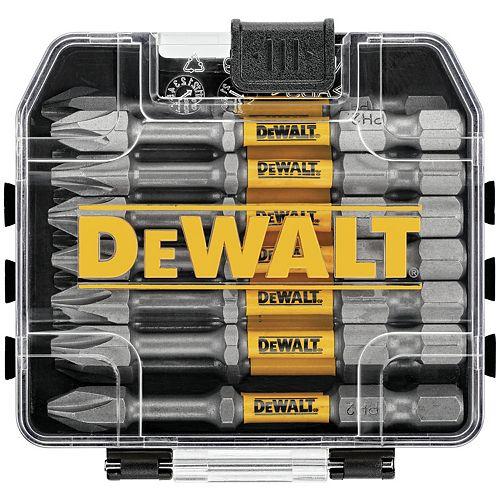 DEWALT MAX IMPACT 2,5 pouces #2 Philips Bit (15 pièces) avec petit stockage en vrac