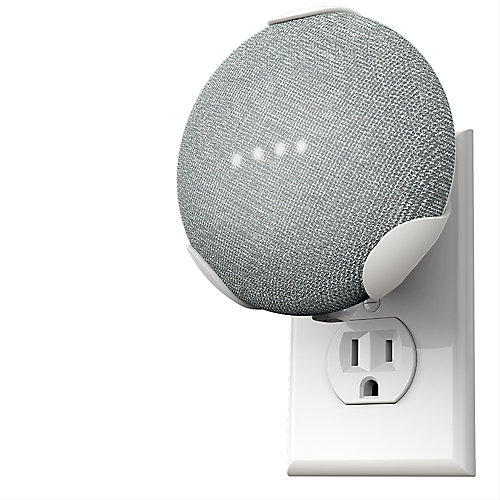 PowerClip Google Home Mini - Craie