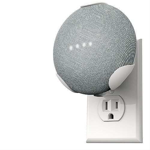360 Electrical PowerClip Google Home Mini - Chalk