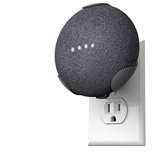 PowerClip Google Home Mini-charbon de bois