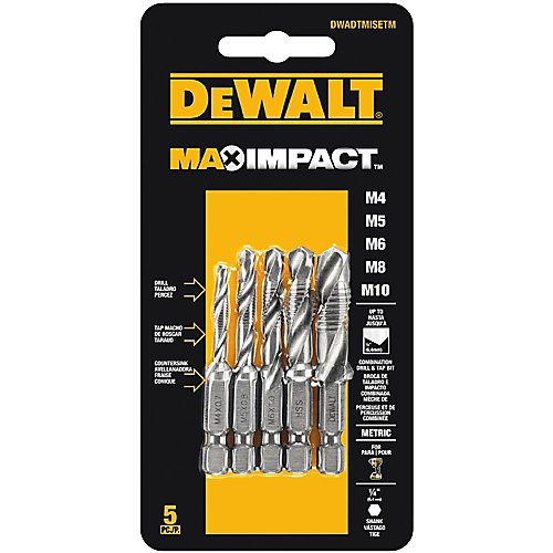 MAX Impact Metric Drill Tap Set (5 Piece)