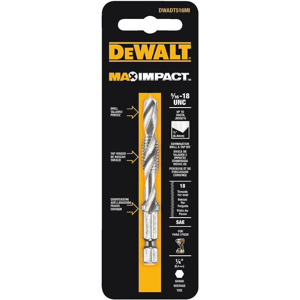 DEWALT MAX Impact 5/16-inch - 18-inch Steel Drill Tap Bit