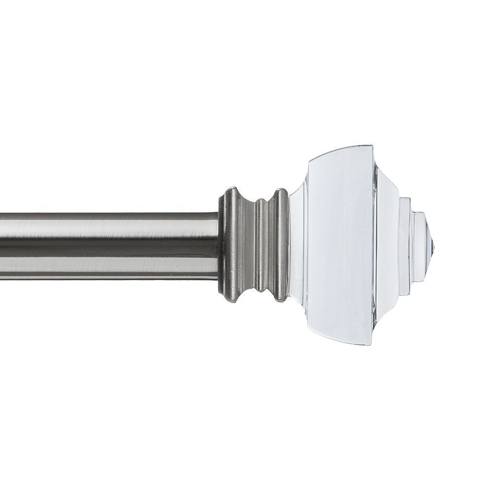 Home Decorators Collection Crystal Square Finial for 1in Curtain Rod BN