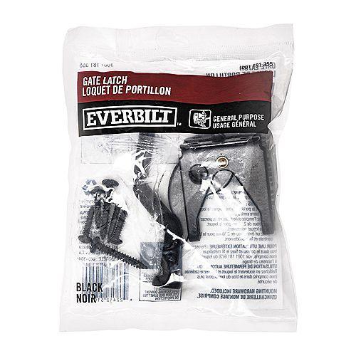 Everbilt Gate Latch, Black, 1pc