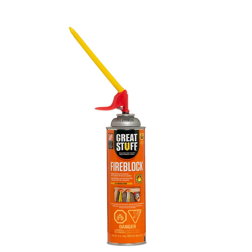Great Stuff Smart Dispenser Fireblock Insulating Foam Sealant 16oz The Home Depot Canada