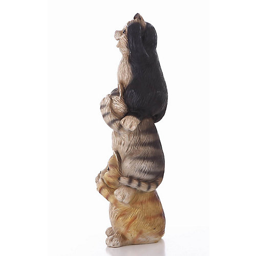 Stacking Cats-Hear/See/Speak no Evil Statue