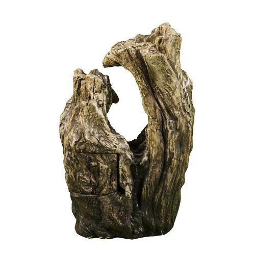 Fontaine po.tronc d'arbrepo. avec lumière DEL.