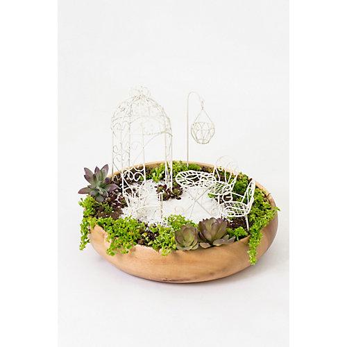 Fairy 6-Piece Garden Furniture Set, off White