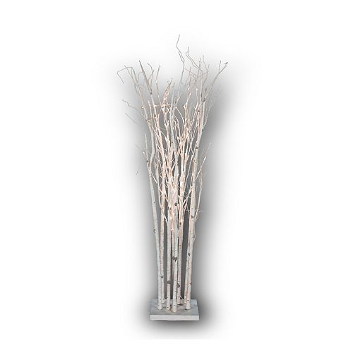 160 LED Lights White Birch Tree with AC Adapter, Indoor Use Only