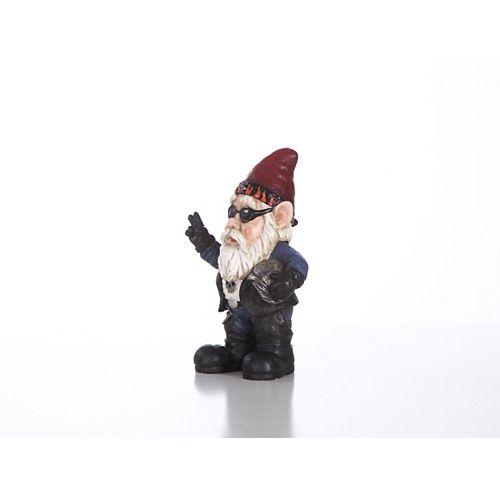 Hi-Line Gift Male Gnome Biker with Sunglass and Helmet Statue