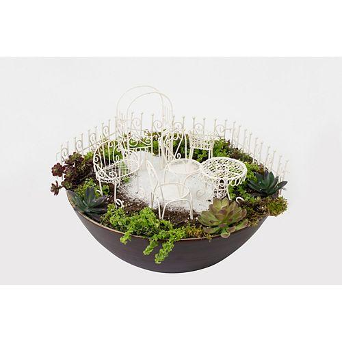 Hi-Line Gift Fairy 10-Piece Garden Furniture Set, off White