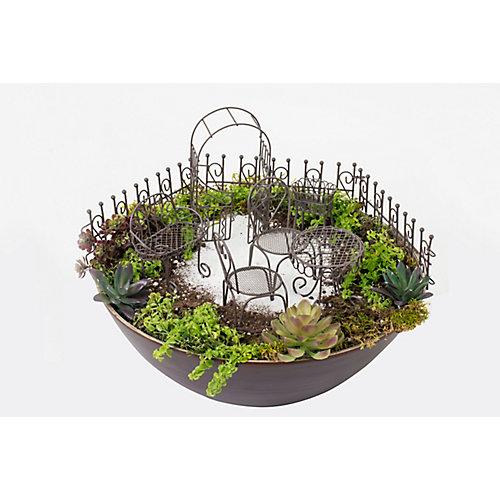 Fairy 10-Piece Garden Furniture Set in Rust Brown