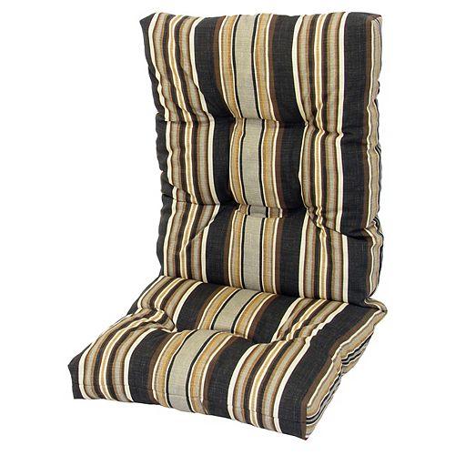 High Back Cushion Stripe Black