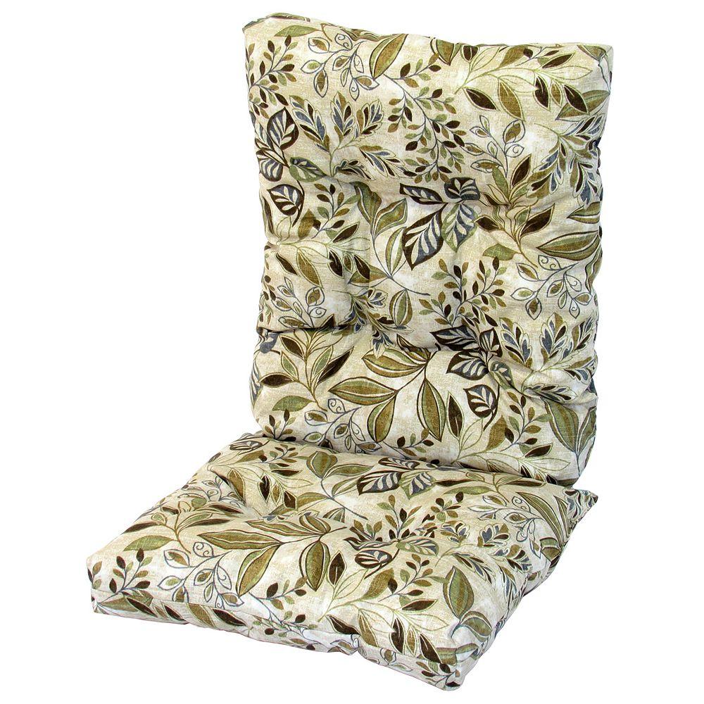 Bozanto Inc. High Back Cushion Floral Tan