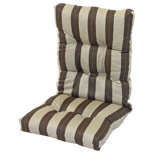 High Back Cushion Striped Brown