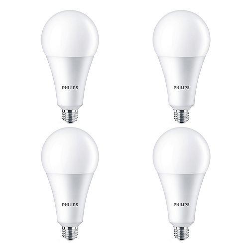 160W Equivalent High Lumen Daylight Deluxe (6500K) A30 LED Light Bulb (4-Pack)