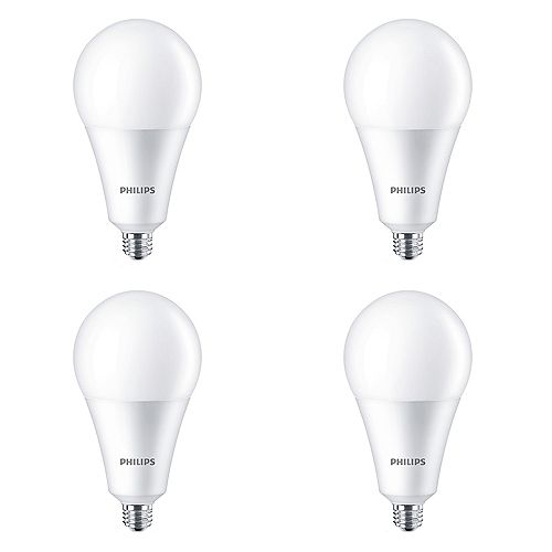 Philips 24W=200W Daylight Deluxe A35 Non-dimmable LED Light Bulb (4-pack)