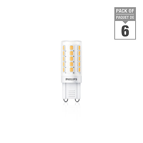 LED 40W G9 Bright White(3000K) Non Dimmable - Case of 6 Bulbs - ENERGY STAR®