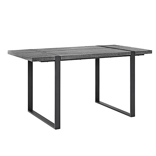 60 inch Industrial Metal Wood Dining Table - Charcoal