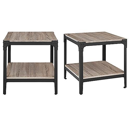 Fin de table pour canapé en bois flotté