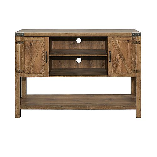 Tall Modern Farmhouse TV Stand for TV's up to 56 inch - Barnwood