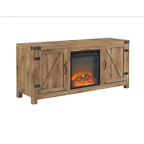 """58 """"Grange en bois porte de grange cheminée TV Stand"""