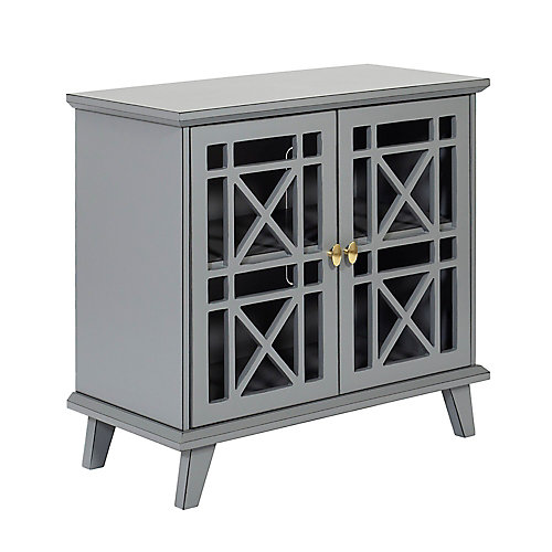 Accent Buffet and Storage Cabinet with Doors - Grey