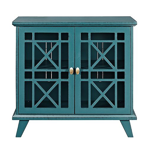 Accent Buffet and Storage Cabinet with Doors - Blue