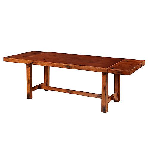 8 Person Farmhouse Expandable Dining Table - Dark Oak