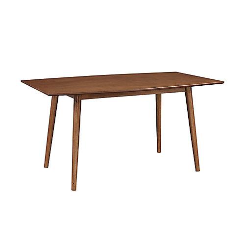 Table à manger en bois du milieu du siècle de 152,4 cm (60 po) en Marron de