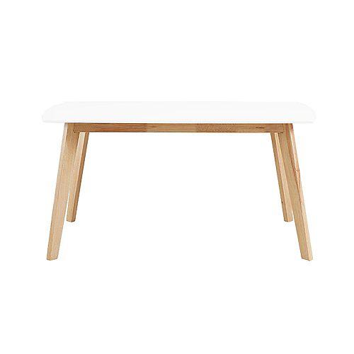 Table à manger rétro moderne en bois de 152,4 cm (60 po) de