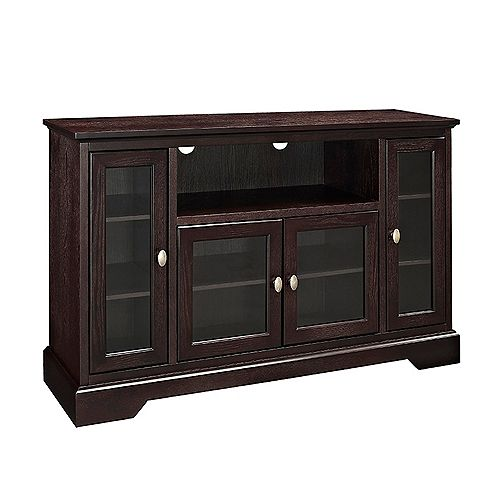 Walker Edison Traditional Wood TV Stand for TV's up to 56 inch - Espresso