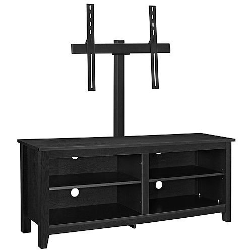 Minimal Farmhouse TV Stand with Mount for TV's up to 64 inch- Black