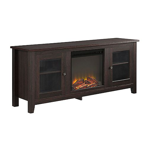 Traditional Fireplace TV Stand for TV's up to 64 inch - Espresso