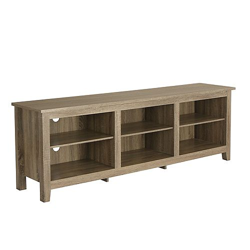 Minimal Farmhouse TV Stand for TV's up to 78 inch- Driftwood