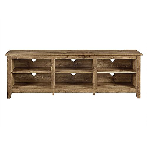 Minimal Farmhouse TV Stand for TV's up to 78 inch- Barnwood
