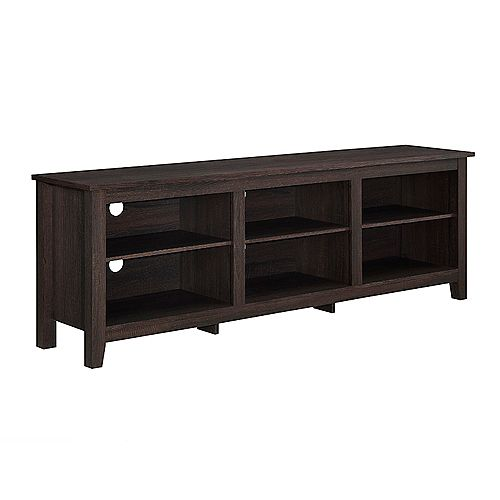 Minimal Farmhouse TV Stand for TV's up to 78 inch- Espresso